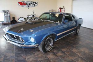 1969 Ford Mustang blue_13