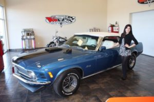 Ford Mustang Convertible blue vintage-11