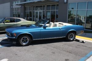 1970 Ford Mustang Convertible blue vintage-19