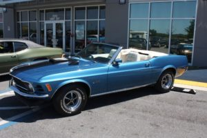 1970 Ford Mustang Convertible blue vintage-20