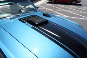 1970 Ford Mustang Convertible blue vintage-23