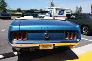 1970 Ford Mustang Convertible blue vintage-27