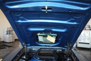 Ford Mustang Convertible blue vintage-7