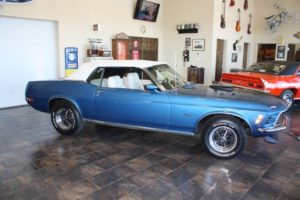 Ford Mustang Convertible blue vintage-9